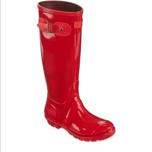 Seven for All Mankind Red Rain Boots